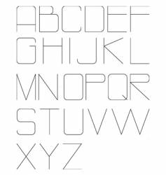 High tech alphabet vector