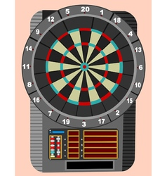 Scoreboard for darts vector