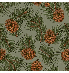 Spruce seamless pattern vector