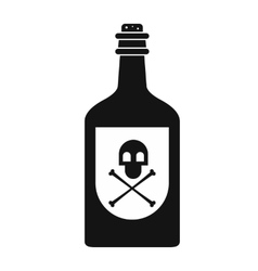 Poison bottle black simple icon vector
