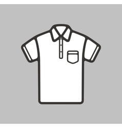 Polo t-shirt icon vector