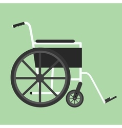 Wheelchair isolated silhouette vector