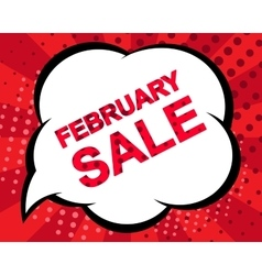 Big winter sale poster with FEBRUARY SALE text vector image vector image