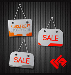black friday signs set vector image