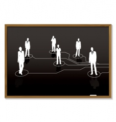 business blackboard vector image vector image