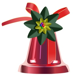 christmas bell vector image vector image