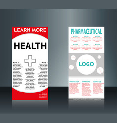 Collection of 2 abstract medical business cards vector