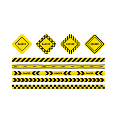 danger tapes danger sign vector image