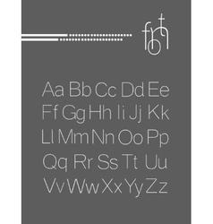 Elegant light font letters design vector image vector image