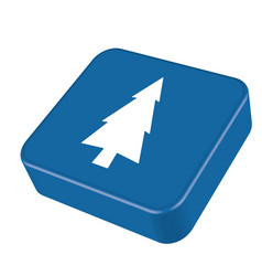 Fir trees icon vector