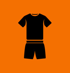 fitness uniform icon vector image vector image