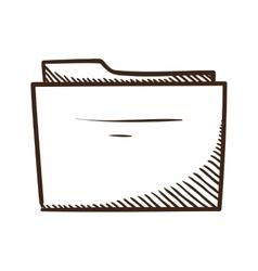 Folder symbol vector image vector image