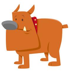 Funny bulldog dog cartoon vector