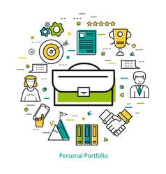 Line art concept - personal portfolio vector