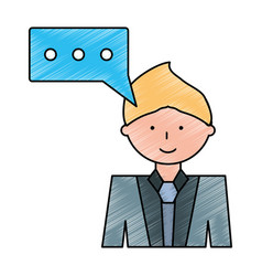 Man cartoon profile vector