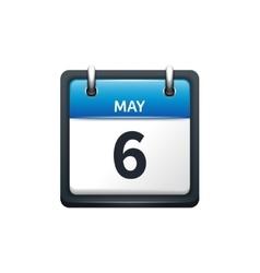 May 6 Calendar icon flat vector image vector image