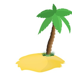 Palm tree on island vector image vector image