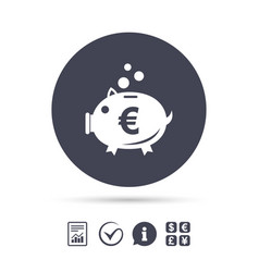 piggy bank sign icon moneybox symbol vector image vector image