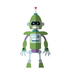 robot cartoon icon vector image