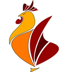Rooster logo cook icon abstract vector