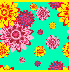 Seamless texture with abstract flowers vector