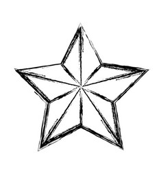 Star funny comic cartoon decoration icon vector