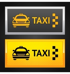 taxi cab set label vector image