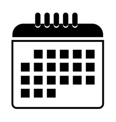 The calendar black color icon vector