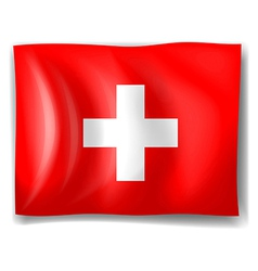 The flag of Switzerland vector image vector image