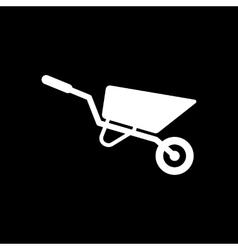 The wheelbarrow icon Barrow symbol Flat vector image