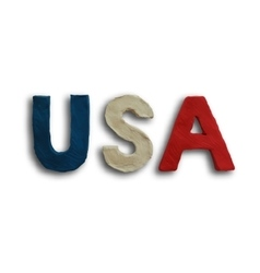 USA Word Text vector image vector image