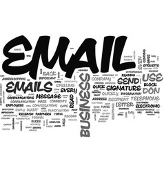 What do your business emails reveal about you vector