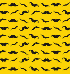 yellow pattern with retro mustache for design vector image vector image