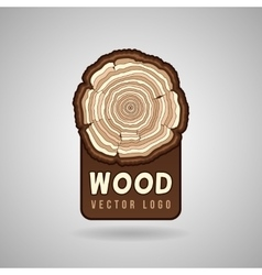 Annual tree growth rings trunk cross section vector image