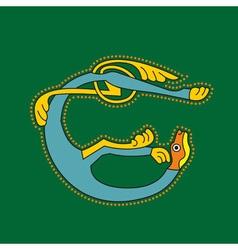 celtic lion vector image