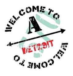 Detroit stamp rubber grunge vector image