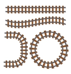 Passenger train rail tracks brush railway vector image