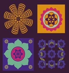 Four elements for meditation design vector