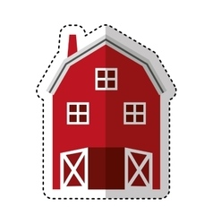 Farm stable isolated icon vector