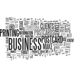 What do your clients expect from your postcards vector