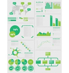 Infographic demographics 5 green vector