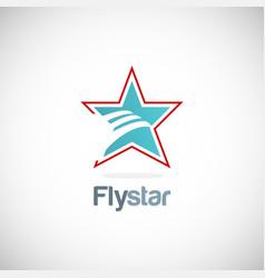 fly star company logo vector image
