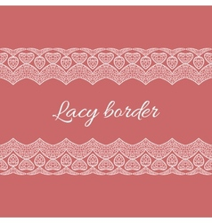 Ornamental lace border vector image