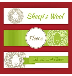 Sheep fool and fleece concept hand drawn style vector