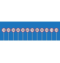 Traffic sign set vector