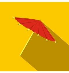 Asian parasol or umbrella icon flat style vector