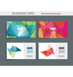 Modern business card template with faceted 3d vector