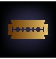 Razor blade sign vector