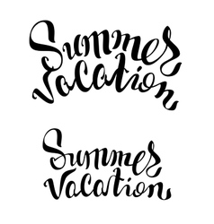 Summer vacation lettering text vector