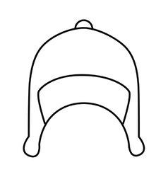 Snow hat wear icon design vector